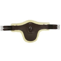 Equi-Prene Stud Girth w Elastic & Removable Fleece Brown