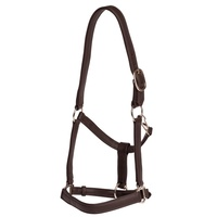 J&L Soft Touch Leather Halter w Adjustable Nose