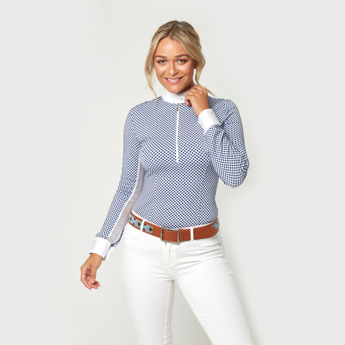Candillo Long-Sleeve Shirt w Underarm Netting