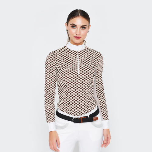 Pizazz Long-Sleeve Shirt w Underarm Netting